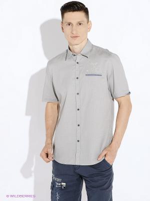 Рубашка LERROS. Цвет: серый