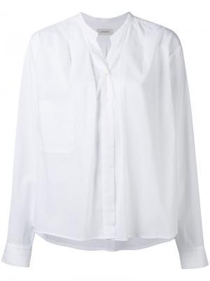 Band collar shirt Lemaire. Цвет: белый