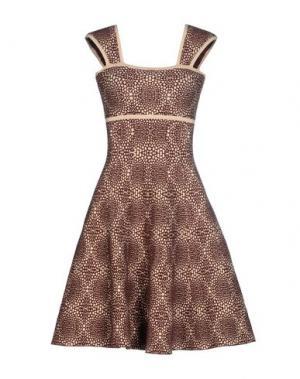 Короткое платье ISSA. Цвет: какао