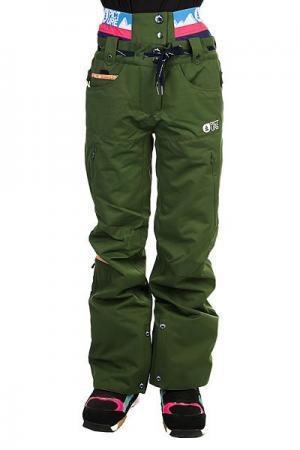 Штаны сноубордические женские  Slany Khaki Picture Organic. Цвет: зеленый