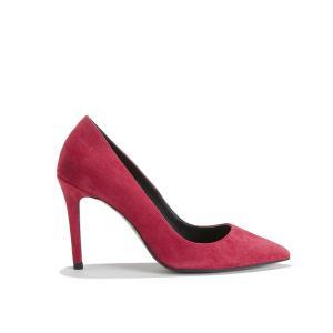 Туфли-лодочки из спилка на каблуке-шпильке THE KOOPLES. Цвет: красный