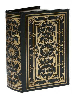 Шкатулка-фолиант Лик солнца 17*11*5см Русские подарки. Цвет: черный, золотистый