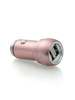 Авто адаптор 2.4A 2USB Remax RCC205 розовый. Цвет: розовый
