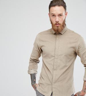 Heart & Dagger Приталенная вельветовая рубашка. Цвет: бежевый