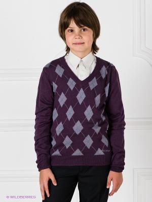 Пуловер SILVER SPOON. Цвет: фиолетовый, светло-серый