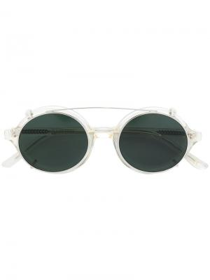 Солнцезащитные очки в круглой оправе Han Kjøbenhavn. Цвет: металлический