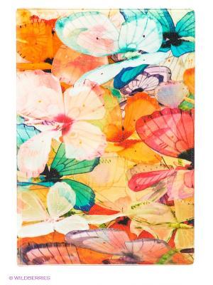 Обложка для автодокументов Цветные бабочки Mitya Veselkov. Цвет: оранжевый, бирюзовый, малиновый