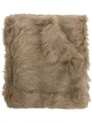 Меховой шарф Cutuli Cult. Цвет: коричневый