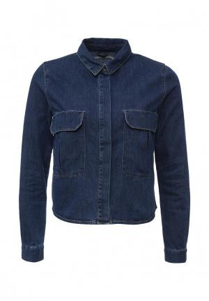 Рубашка джинсовая Jennyfer. Цвет: синий