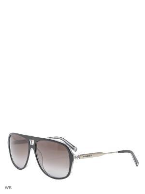 Солнцезащитные очки DQ 0186 03В Dsquared2. Цвет: черный, серебристый