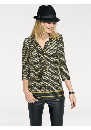 Блузка Rick Cardona. Цвет: желтый/черный