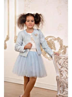 Жакет LisaWeta. Цвет: голубой,золотистый