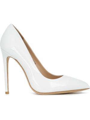 Туфли на шпильках с заостренным носком Gianni Renzi. Цвет: белый