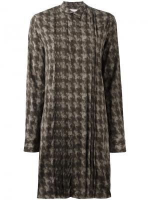 Платье-рубашка Director A.F.Vandevorst. Цвет: зелёный