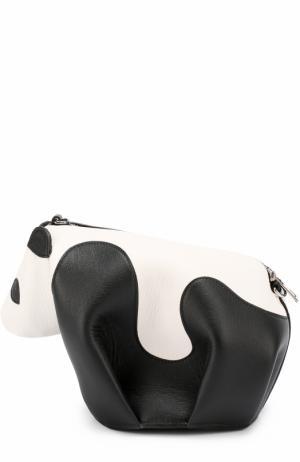 Сумка Panda Mini Loewe. Цвет: черно-белый