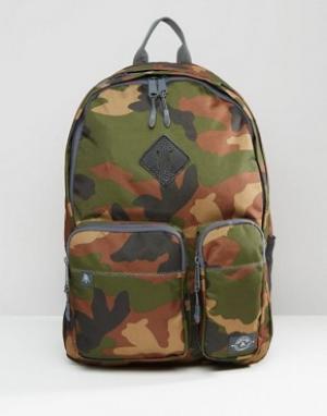Parkland Камуфляжный рюкзак Academy. Цвет: зеленый