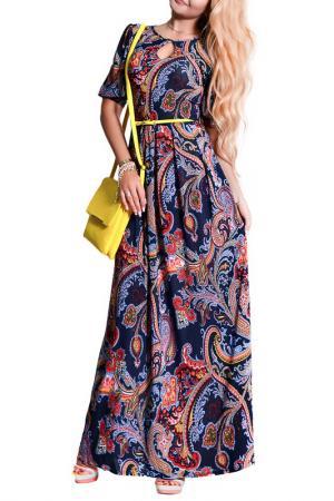 Платье FRANCESCA LUCINI. Цвет: синий