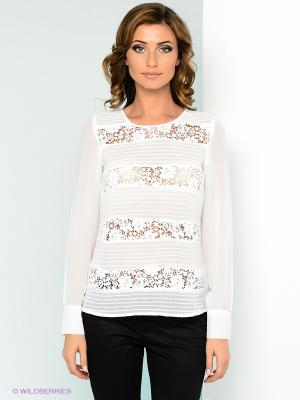 Блузка ZARINA. Цвет: белый