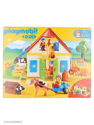Игровой набор Большая ферма Playmobil. Цвет: белый, красный