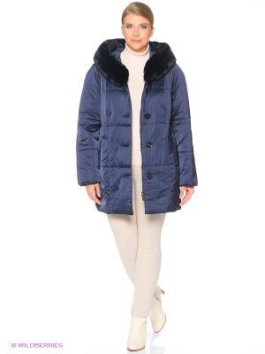 Утепленное пальто MONTSERRAT. Цвет: темно-синий