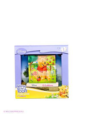 Пазл из кубиков Винни Пух Simba. Цвет: салатовый, желтый, красный