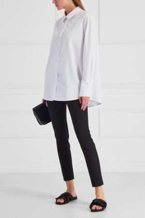 Белая рубашка из хлопка SUBTERRANEI. Цвет: белый