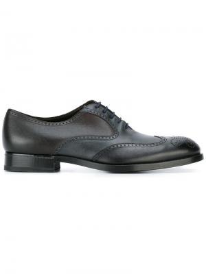 Туфли оксфорды с перфорацией Fratelli Rossetti. Цвет: многоцветный