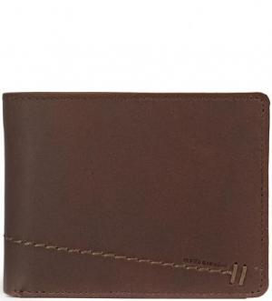 Кожаное портмоне с двумя отделами для купюр aunts & uncles. Цвет: коричневый