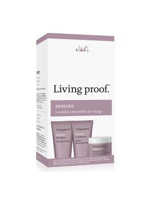 Дорожный набор для восстановления Living Proof. Цвет: розовый