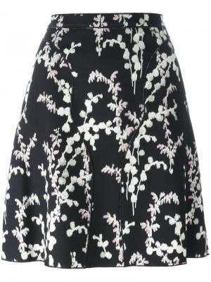 Юбка с цветочным принтом Giambattista Valli. Цвет: чёрный