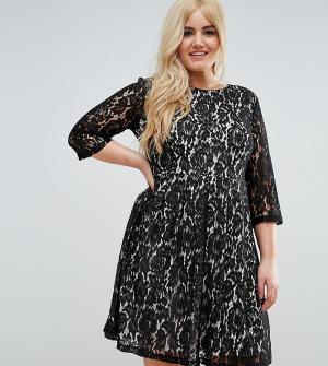 Praslin Короткое приталенное платье из кружева. Цвет: черный