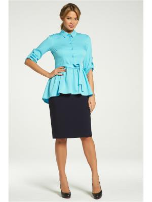 Блузка Vittoria Vicci. Цвет: голубой