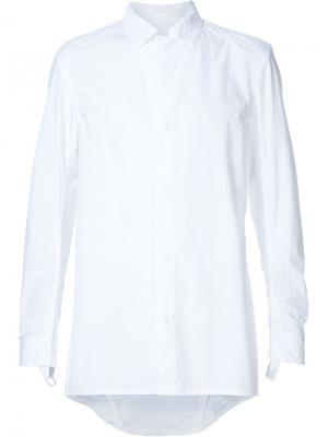 Рубашка с потайной застежкой 11 By Boris Bidjan Saberi. Цвет: белый