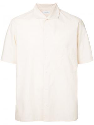 Рубашка с короткими рукавами Lemaire. Цвет: телесный