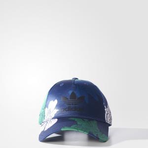 Кепка Floral Engraving  Originals adidas. Цвет: зеленый