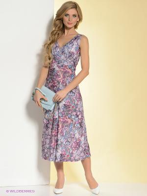 Платье La Fleuriss. Цвет: фиолетовый