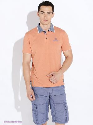 Футболка-поло LERROS. Цвет: оранжевый