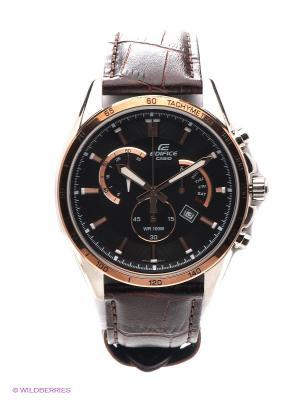 Часы EDIFICE EFR-510L-5A CASIO. Цвет: коричневый