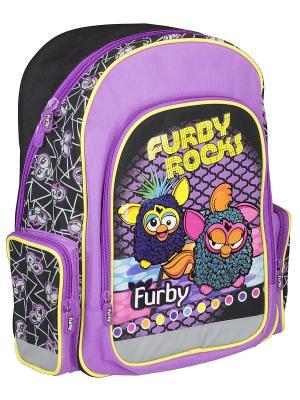 Рюкзак с эргономичной EVA-спинкой.  Furby. Цвет: желтый, сиреневый