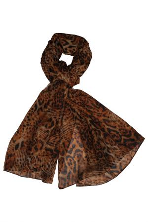 Шарф Stella Doro D'oro. Цвет: brown with leopard print