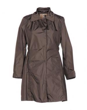 Легкое пальто SEALUP. Цвет: темно-коричневый