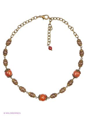 Ожерелье Polina Selezneva. Цвет: светло-коричневый, темно-коричневый