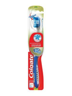 Зубная щетка 360 Всесторонняя чистка средняя COLGATE. Цвет: синий, белый, красный