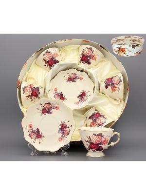 Чайный набор Бархатный нектар Elan Gallery. Цвет: бежевый, красный, розовый