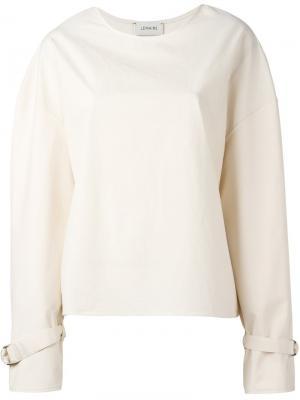 Блузка с расклешенными рукавами Lemaire. Цвет: телесный