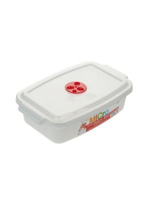 Контейнер для микроволновой печи Migura. Цвет: белый,красный