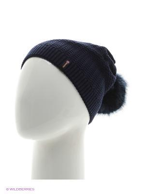 Шоу Беркле шапка женская с помпоном Berkle. Цвет: темно-синий