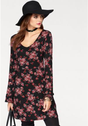 Платье MELROSE. Цвет: черный/красный