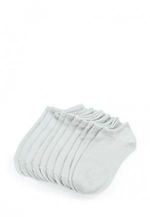 Комплект носков 10 пар oodji. Цвет: серый