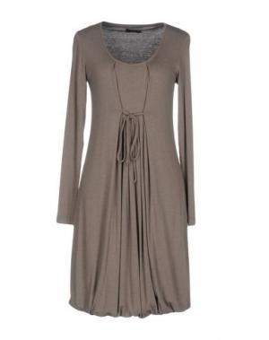 Короткое платье PESERICO SIGN. Цвет: хаки